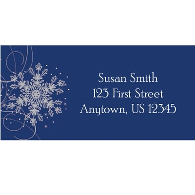 Glistening Snowflakes Address Labels