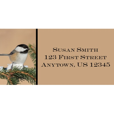 Black Capped Chickadee Address Labels
