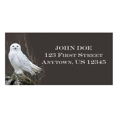 Snowy Owl on Alert Address Labels