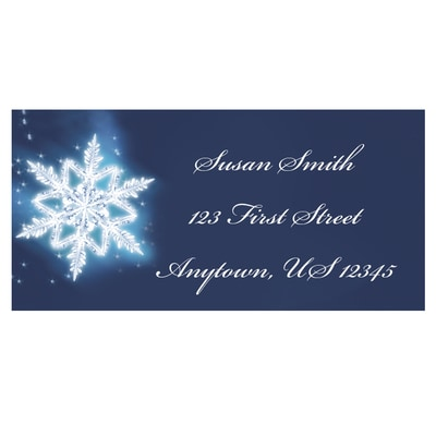 Spectacular Snowflake Address Labels