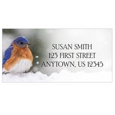 Bluebird in the Snow Address Labels