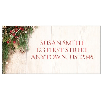 Rustic Christmas Address Labels