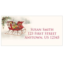Holiday Sleigh Address Labels