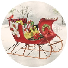 Holiday Sleigh Envelope Seals
