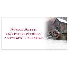 Christmas Mill Address Labels
