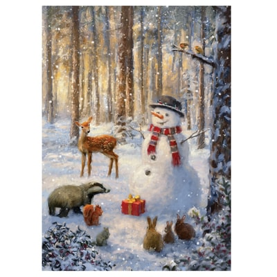 Woodland Friends Gather Card
