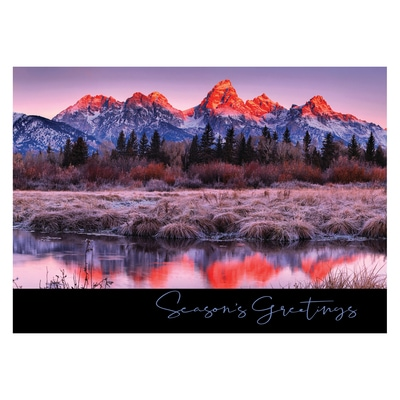 Sunrise Reflections at Grand Teton Card