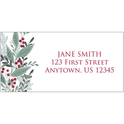 Geometric Christmas Address Label