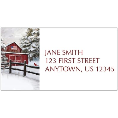 Winter Barn Address Label