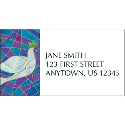 Stained Glass Dove Address Label