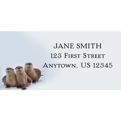 River Otters Along the Shoshone River Address Label