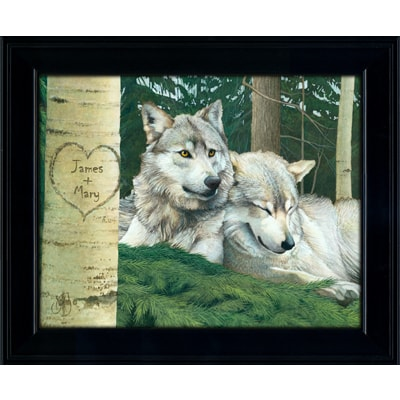 Wolf Pair Personalized Art Print
