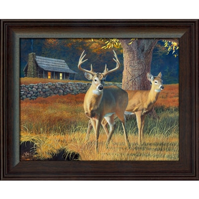Whitetails Personalized Art Print