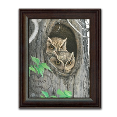 Whoo's In Love Personalized Art Print