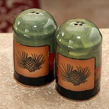Pine Cone Pottery Shaker Set