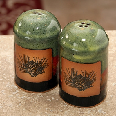 Pine Cone Pottery Shaker Set
