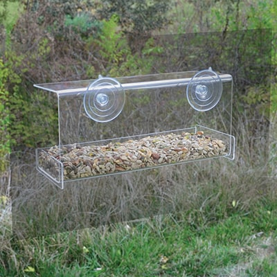 Deluxe Mirrored Window Feeder