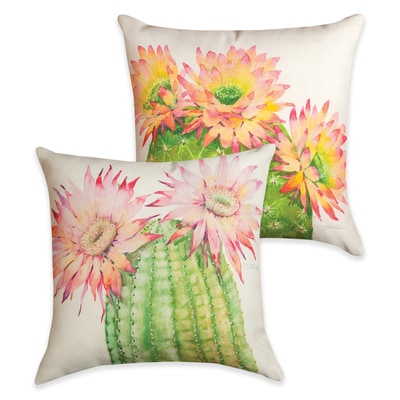 Desert Blossoms Reversible Pillow