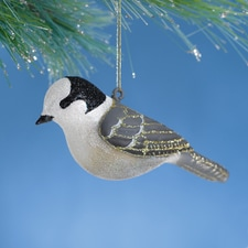 Gray Jay Glass Ornament