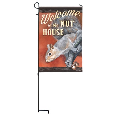 Nut House Welcome Garden Flag