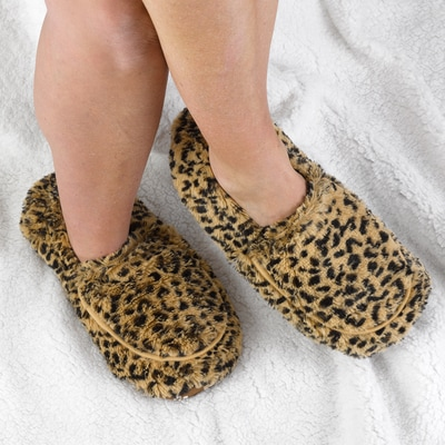 Tawny Owl Faux Print Slippers