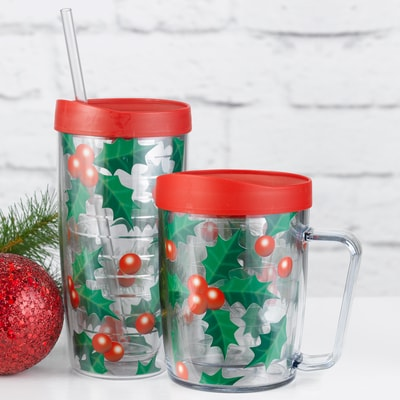 Holly Mug & Tumbler Set