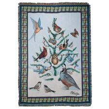 Bird Haven Tapestry Throw
