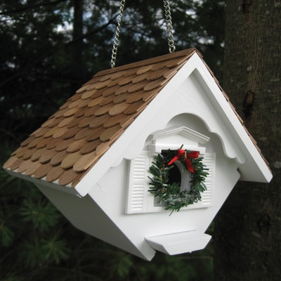 White Christmas Wren Nesting House