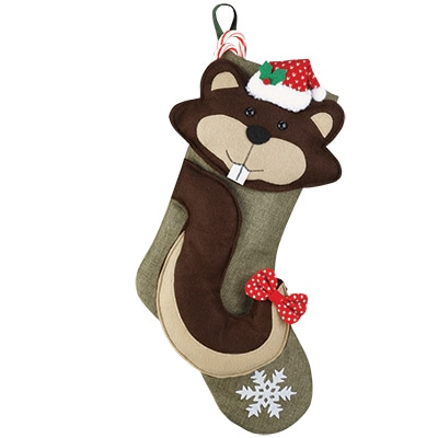 Squirrel Kids Stocking