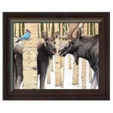 Moose Tracks Personalized Art Print