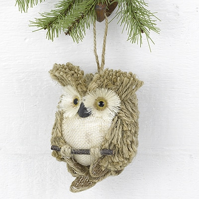 Tan Owl Hanging Décor