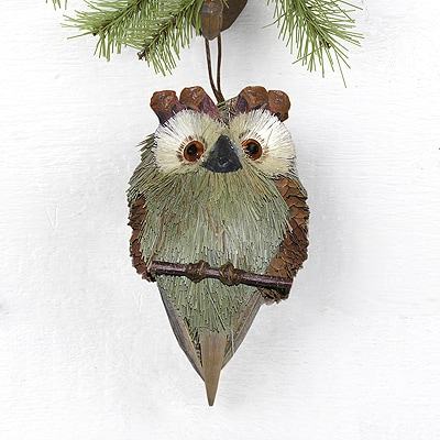Green Owl Hanging Décor