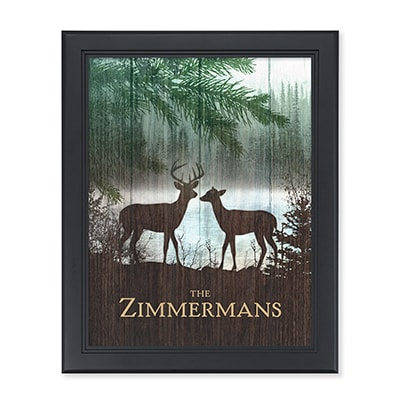 Lakeside Deer Personalized Wall Art