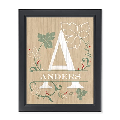 Ivy Initial Personalized Wall Art
