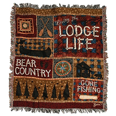 Lodge Life Tapestry Throw