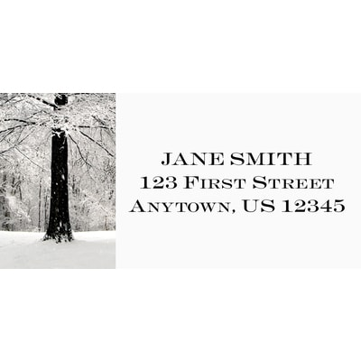 Quiet Snowfall Address Label