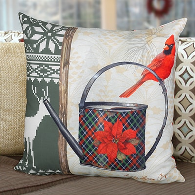Christmas Garden Pillow