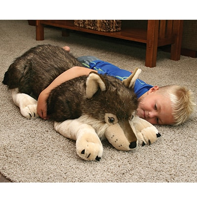 Jumbo Plush Stuffed Wolf