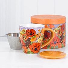 Pretty Poppies Tea Infuser Mug