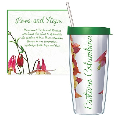 Eastern Columbine Travel Tumbler