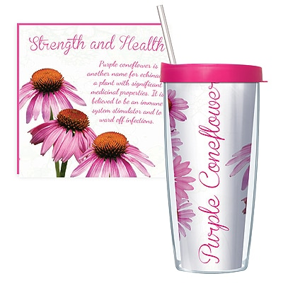 Purple Coneflower Travel Tumbler