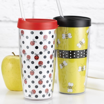 Ladybug and Bumble Bee Travel Tumbler Set