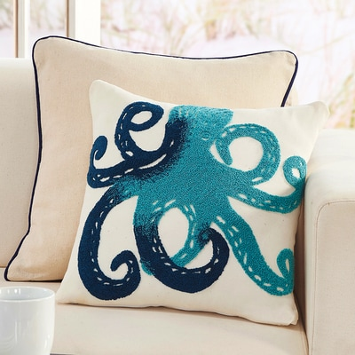 Octopus Applique Pillow