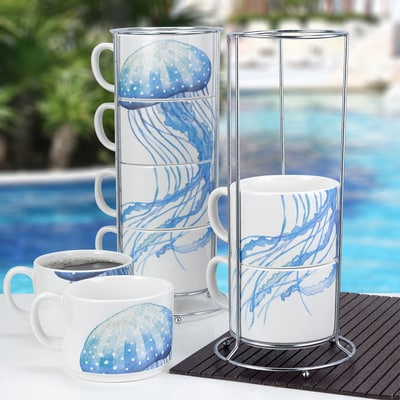 Jellyfish Stacked Mugs
