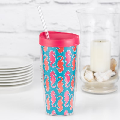 Seahorses Travel Tumbler