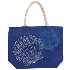 Navy Shells Tote Bag