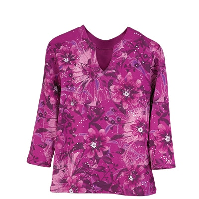 Radiant Floral Splash Top
