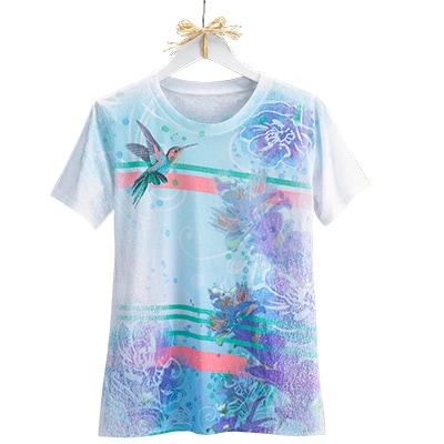 Hummingbird Linear Design Tee