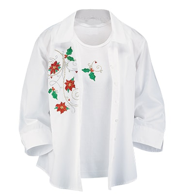 Poinsettia Shirt Set