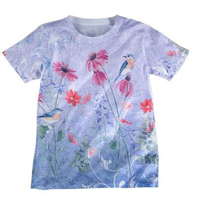Bluebird Scroll Sublimation Tee